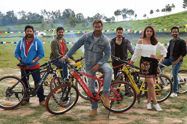 Golmaal Again cast poses with Salman Khan's Being Human e-cycles