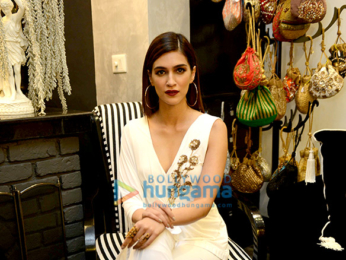 Kriti Sanon snapped during the preview of Sonaakshi Raaj's collection
