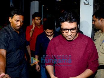 Raj Thackeray and Sachin Tendulkar snapped at Bastian