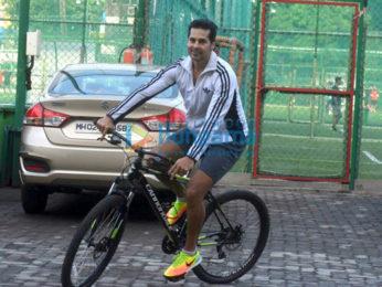Ranbir Kapoor, Dino Morea and Aparshakti Khurana snapped at Football session in Mumbai