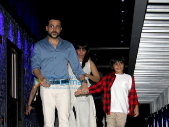Emraan Hashmi snapped with his son and wife at Hakkasan
