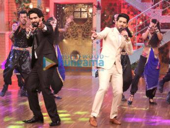 Armaan Malik, Amaal Mallik and Daboo Malik snapped on sets of The Drama Company