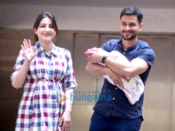 Soha Ali Khan and Kunal Khemu snapped with their baby