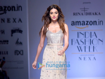 AIFW 2017 Nidhhi Agerwal walks the ramp in New Delhi