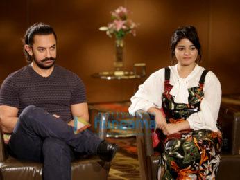 Aamir Khan, Zaira Wasim, Advait Chandan promote 'Secret Superstar' in New Delhi