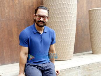 Aamir Khan and Zaira Wasim at a photoshoot in New Delhi