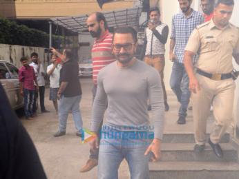 Aamir Khan snapped in South Mumbai