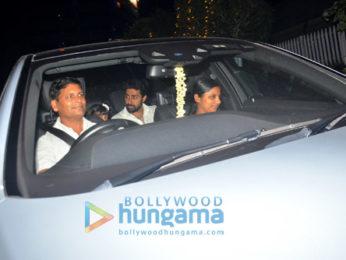 Aishwarya Rai Bachchan and Abhishek Bachchan spotted having dinner at a restaurant