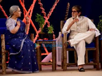 Amitabh Bachchan, John Abraham and Alia Bhatt attend the NDTV Cleanathon