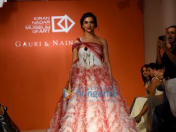 Deepika Padukone walks the ramp for Gauri & Nainika in New Delhi