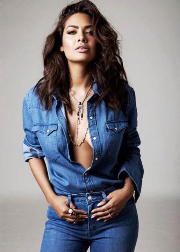 Esha Gupta adds oomph to the denim-on-denim trend