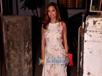 Esha Gupta snapped outside a Spa