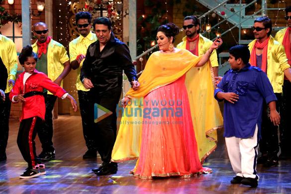 Govinda and Sunita Ahuja on the sets of 'The Drama Company'