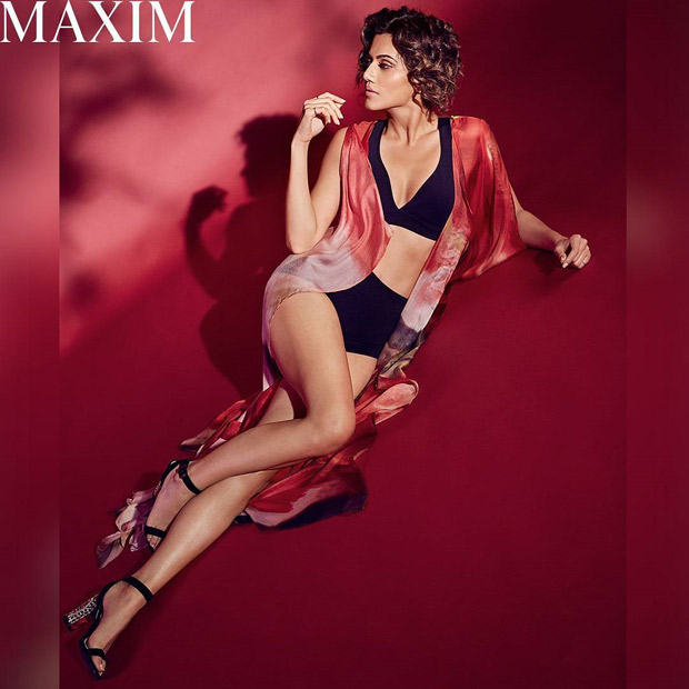 HOT! Taapsee Pannu sizzles in lingerie on the cover of Maxim