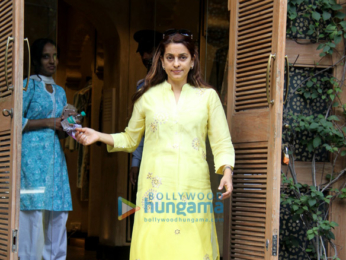 Juhi Chawla spotted at Anita Dongre boutique in Khar