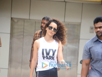Kangana Ranaut snapped today during her dance practise
