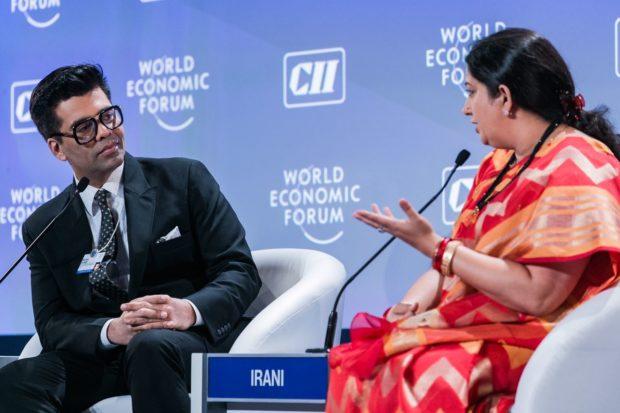 Karan Johar and Smriti Irani (2)