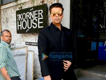 Karan Johar snapped at the Korner House