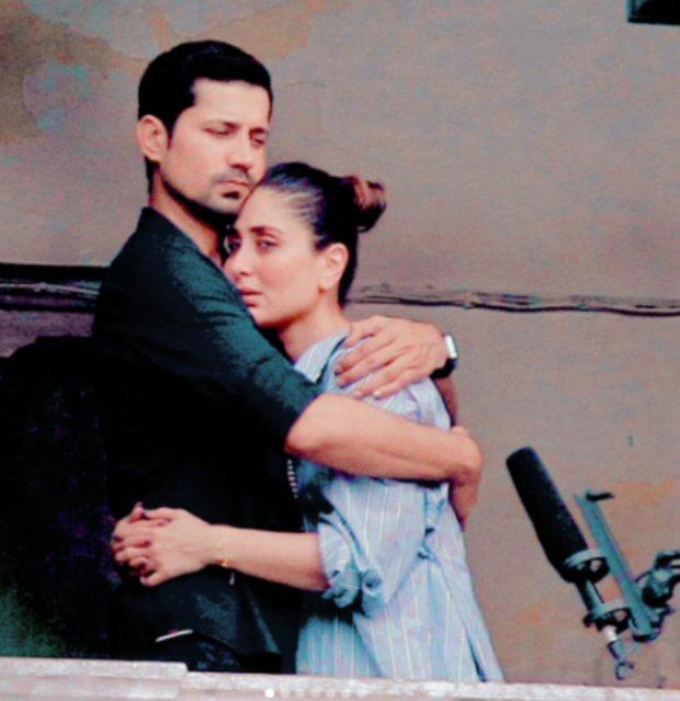 LEAKED PHOTOS Kareena Kapoor Khan and Sumeet Vyas embrace each other during Veere Di Wedding shoot in Delhi