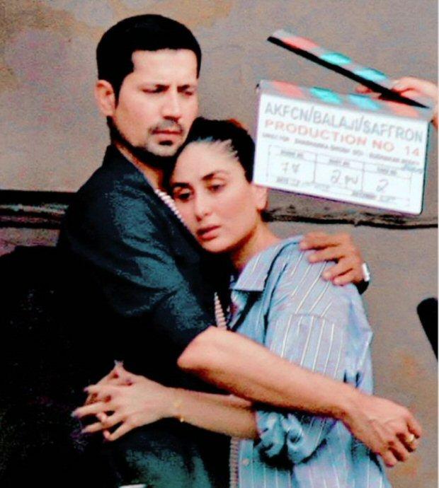 LEAKED PHOTOS Kareena Kapoor Khan and Sumeet Vyas embrace each other during Veere Di Wedding shoot in Delhi1