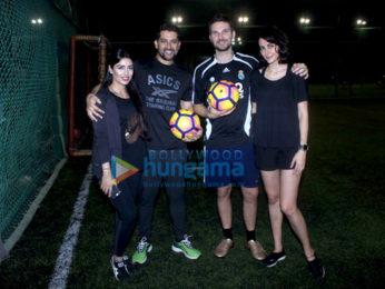 Mandana Karimi snapped with her football team