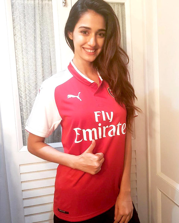 OMG! Disha Patani poses wearing Robert Pires' jersey he gifted her
