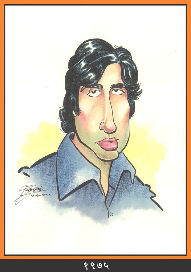 Raj Thackeray wishes Amitabh Bachchan through his caricatures-2---1975