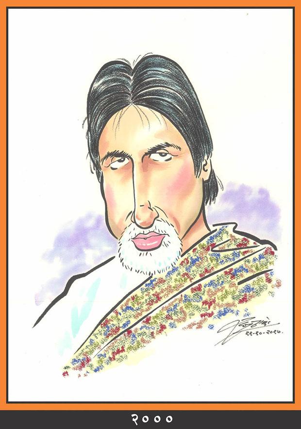 Raj Thackeray wishes Amitabh Bachchan through his caricatures-5---2000