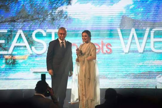 Rani Mukerji gets a special Mauritian Salute