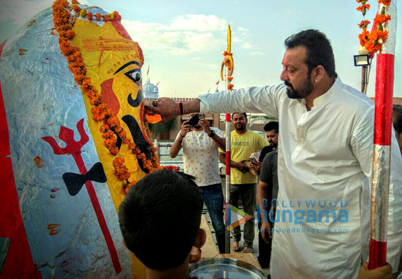 Sanjay Dutt visits a temple in Bikaner