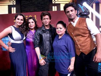 Shah Rukh Khan, Sushant Singh Rajput and Sania Mirza perform at Farah Khan's show Lip Sing Battle