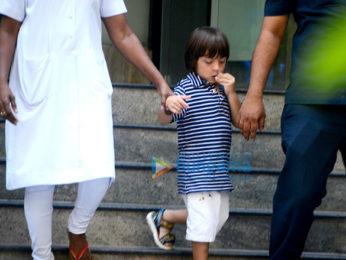 Shah Rukh Khan's son AbRam Khan snapped returning from school