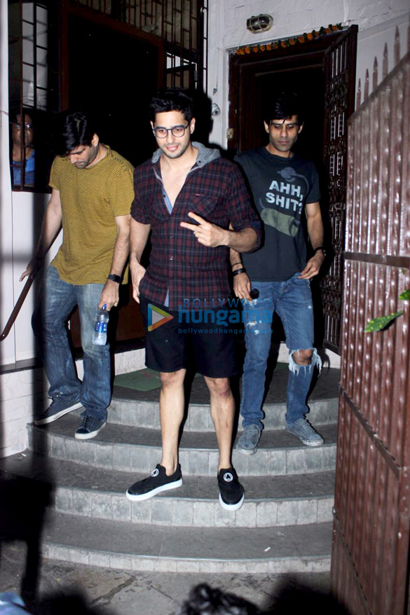 Sidharth Malhotra snapped outside a studio