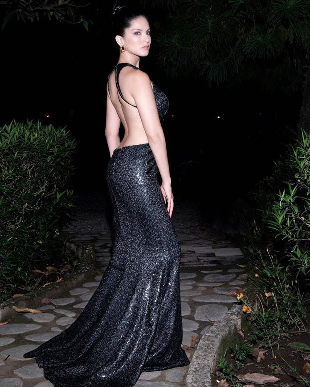 Sunny Leone is bringing sexy back with her backless gown