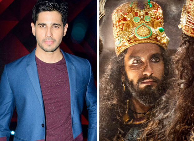 Padmavati row Sidharth Malhotra stands in support of Sanjay Leela Bhansali