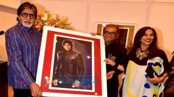 Amitabh Bachchan graces at Dilip De's art event
