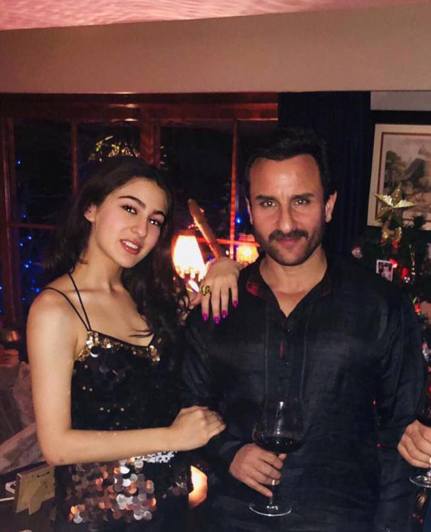 Check out Sara Ali Khan shines in a shimmery outfit with dad Saif Ali Khan (1)
