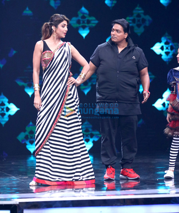 Ganesh Acharya and Shilpa Shetty on the sets of 'Super