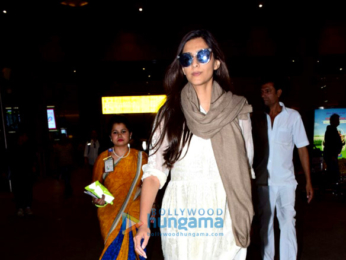Anil Kapoor and Sonam Kapoor snapped at the airport
