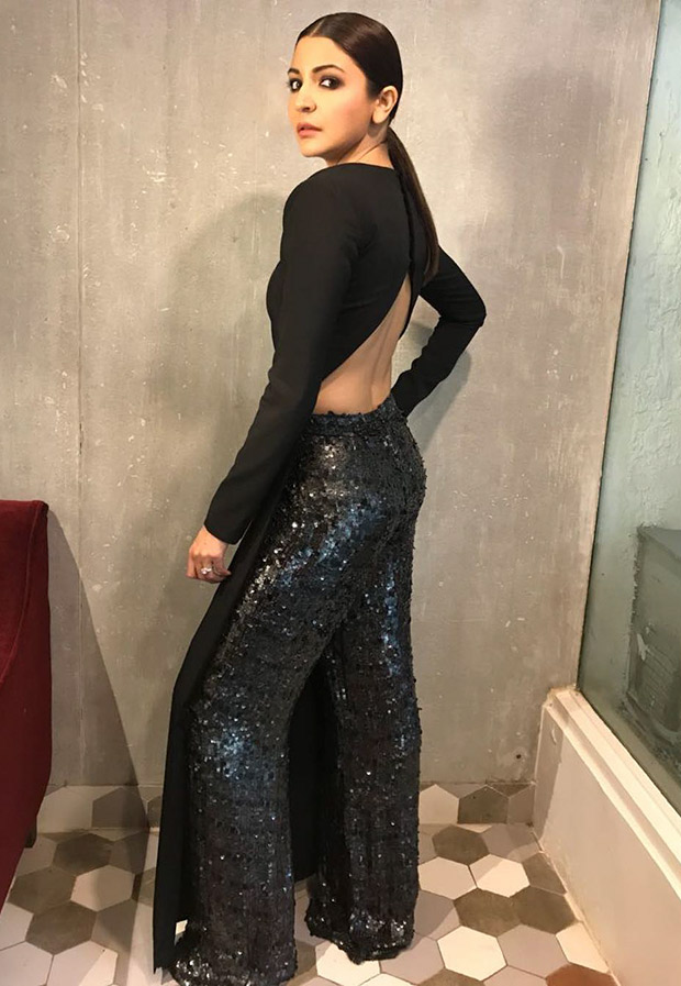 Anushka Sharma in a Nikhil Thampi ensemble for Pari promotions