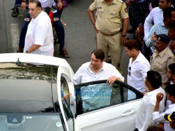 Celebs attend Sridevi's cremation ceremony at Seva Samaj Crematorium and Hindu Cemetery in Vile Parle, Mumbai