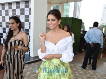 Disha Patani, Kriti Kharbanda and RJ Malishka snapped at the Lakme Fashion Week 2018