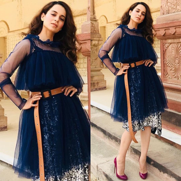 Kangana Ranaut in a Dhruv Kapoor dress