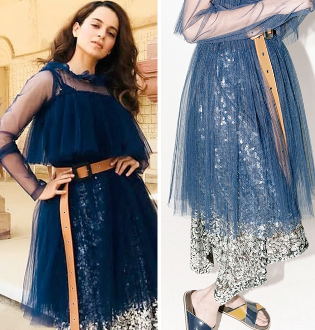 Kangana Ranaut in a layered tulle dress from Dhruv Kapoor