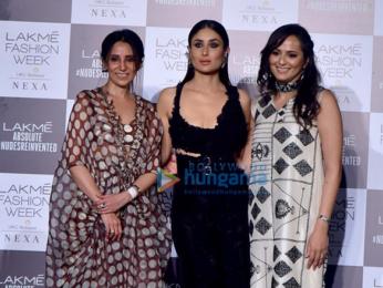 Kareena Kapoor Khan, Sridevi and Janhvi Kapoor snapped at the Lakme Fashion Week 2018 grand finale