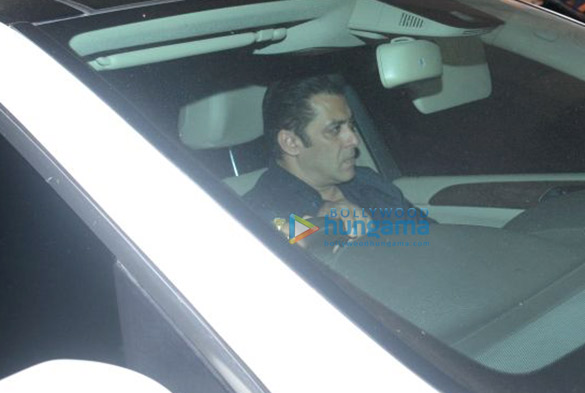 Salman Khan and Ramesh S Taurani snapped at Sridevi's residence