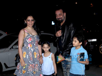 Sanjay Dutt snapped with family spotted at Yauatcha, BKC