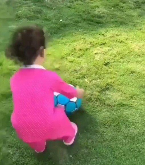 WATCH: Shahid Kapoor's daughter Misha Kapoor enjoys some football time