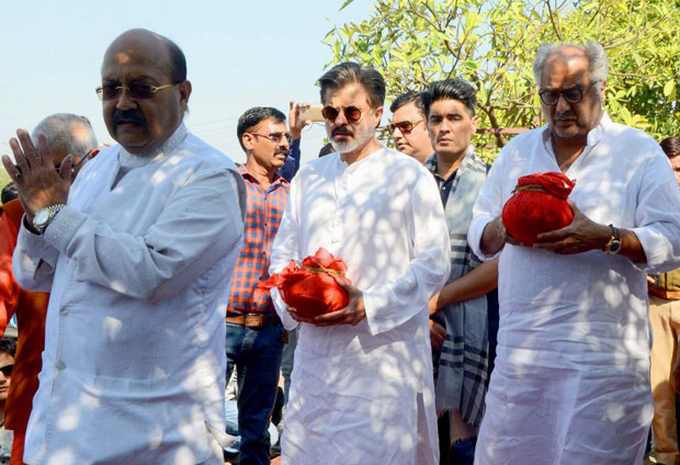 Boney Kapoor and Anil Kapoor immerse Sridevi's ashes in Haridwar