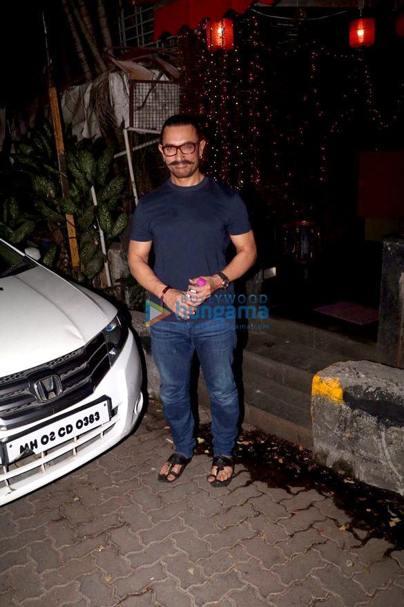 Aamir Khan snapped at a spa